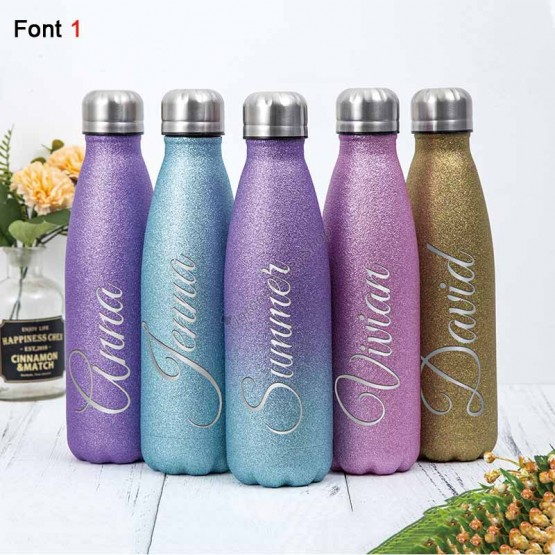17oz Glitter Stainless Steel Vacuum Cup