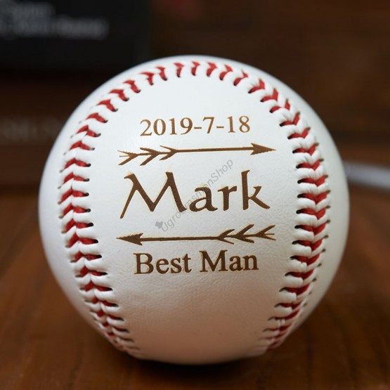 Personalized Baseball Groomsman Gift
