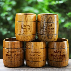 Customized Groomsman Gift Wood Mug