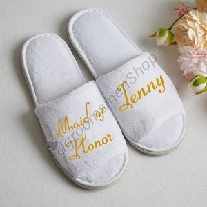 Personalized Bridesmaids Slippers